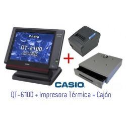 CASIO QT-6100 + Impresora Térmica + Cajón