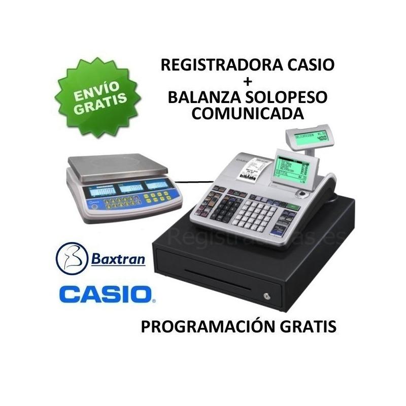 3cf9ae1ee8ad Pack registradora CASIO SE-S400MB + Balanza TW