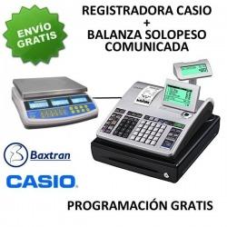 Pack registradora CASIO SE-S400SB + Balanza TW