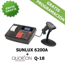 Pack Registradora QUORION Q-18 (QMP 18)+ Cajón + Lector Sunlux 6200A