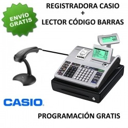 Pack registradora CASIO SE-S400SB (Cajon Pequeño) + Lector Argox AS-8000 RS232