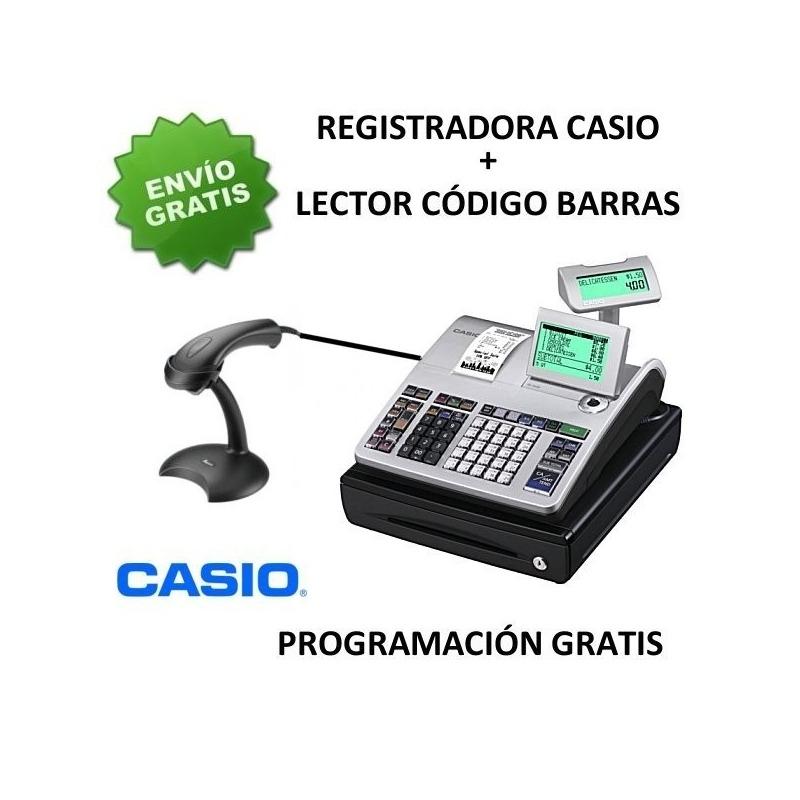 6f82e086604e Pack registradora CASIO SE-S400SB (Cajon Pequeño) + Lector Argox AS-8000  RS232