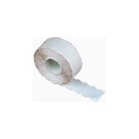 5 Rollos etiquetadora manual 26x12. Blanco.(1 Linea)