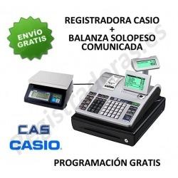 Pack registradora CASIO SE-S400SB + Balanza CAS SW