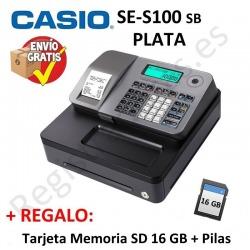 Registradora CASIO SE-S100 SB Plata (Cajon Pequeño)
