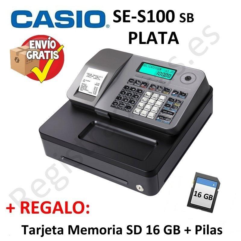 Registradora Casio Se S100 Sb Plata Cajon Peque 241 O