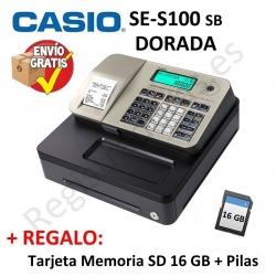 Registradora CASIO SE-S100 SB Dorada