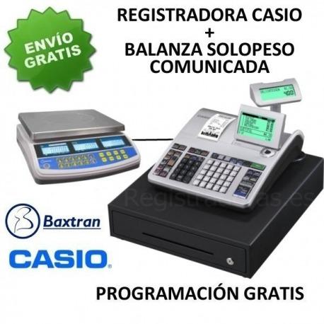 Pack registradora CASIO SE-S400MB + Balanza TW
