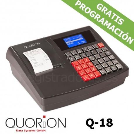 Caja registradora QUORION Q-18 (QMP 18) + Cajón Metálico 35x41