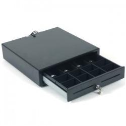 Cajón Portamonedas 410 Negro RJ11 (Pisabilletes metalicos) 9 V o 12V