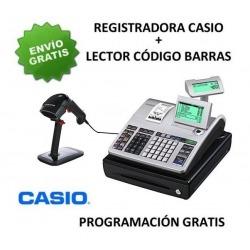 Pack registradora CASIO SE-S400SB (Cajon Pequeño) + Lector Codigo Barras CHAMPTEK SG600 -RS232-