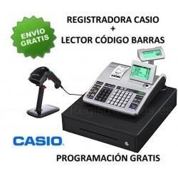 Pack registradora CASIO SE-S400MB (Cajon Grande) + Lector Codigo Barras CHAMPTEK SG600 -RS232-