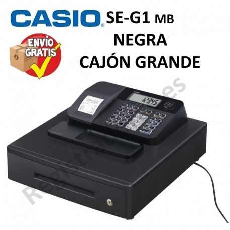 Caja Registradora CASIO SE-G1 (Cajón Grande) NEGRO