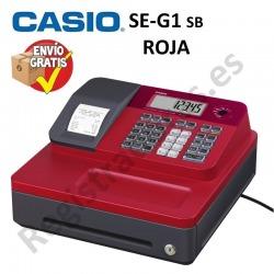 Caja Registradora CASIO SE-G1 (Cajón Pequeño) - ROJO
