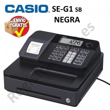 Caja Registradora CASIO SE-G1 (Cajon Pequeño)-NEGRO