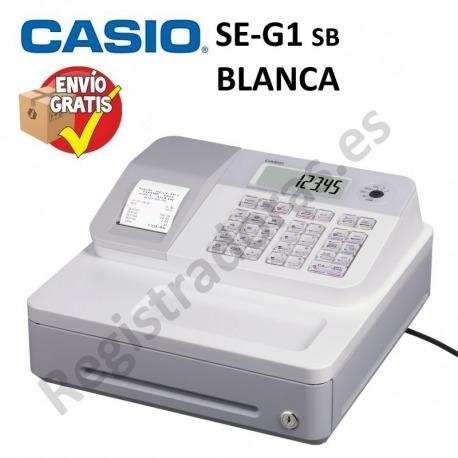 Caja Registradora CASIO SE-G1 (Cajon Pequeño)-BLANCO
