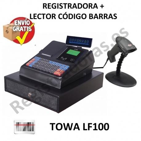 Pack Caja Registradora Towa LF-100 + Lector Código Barras Sunlux 6200A PS2