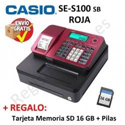 Registradora CASIO SE-S100 SB Roja (Cajon Pequeño)