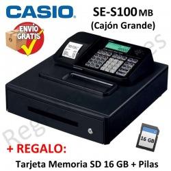 Registradora CASIO SE-S100 SB (Cajon Grande)