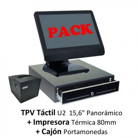 Pack: TPV U2 + Impresora 80mm + Cajón