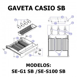 Bandeja Cajón Portamonedas CASIO SE SB (Pequeño)